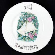 25th wedding anniversary plates 14015 vintage 25th wedding anniversary plate 10 ebay