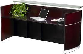 Reception Station Desk Mayline Nrs Napoli Reception Station Desk Free Shipping