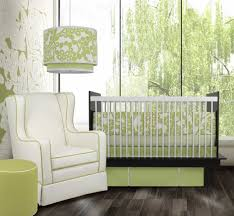 cute picture of black and white baby nursery room design and