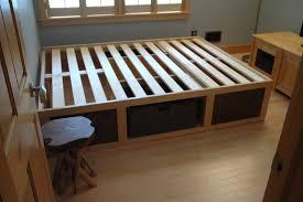 60 x 80 platform bed with storage baskets diy crafts unbelievable