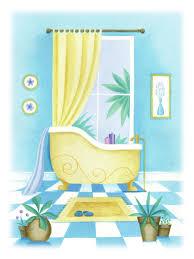 Best Illustrations Home Sweet Home Images On Pinterest - Blue bathroom 2