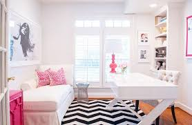 Pink And White Rug White And Pink Office With Black And White Chevron Rug
