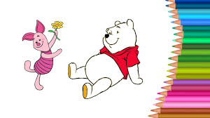 winnie the pooh coloring pages colours for kids kids drawing