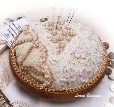 lorna bateman embroidered pincushion winner needlenthread