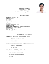 Sample Resume For Hotel Industry by Sample Resume For Hospitality And Tourism Management Resume