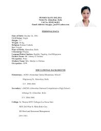 sle resume format for ojt tourism students quotes sle resume for fresh graduates of tourism management resume