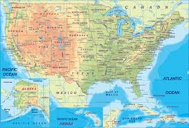 detailed map of usa and canada usa map and the united states satellite images