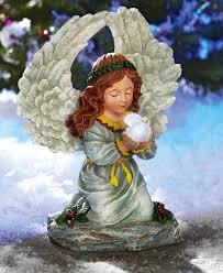 solar power christmas angel outdoor garden statue lawn yard