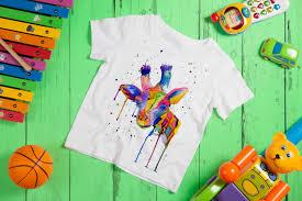 kids giraffe t shirt child rainbow tshirt watercolour giraffe