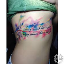 water color fish tattoo on ribs photo 2 photo pictures and