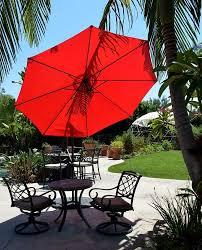 Patio Umbrella Wedge Offset Hanging Patio Umbrella 10 U0027 Adjustable Backyard