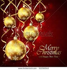 golden holiday lettering merry christmas happy stock vector