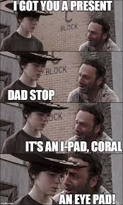 Eye Pad Meme - the walking dead coral imgflip