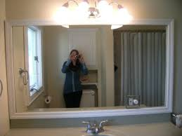 framed bathroom mirrors diy attractive framed bathroom mirrors pertaining to house decor plan