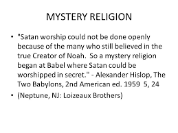 hislop two babylons illuminati secret societies and the bible part ppt