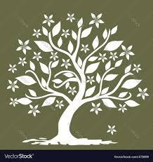 floral tree royalty free vector image vectorstock