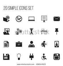 icon bureau set 20 editable bureau icons includes stock vector 698543023