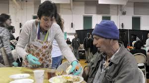 volunteers create early spirit at bel air thanksgiving