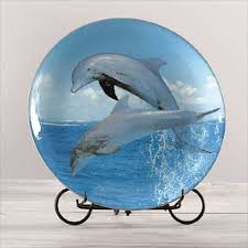 unique dolphin gifts globaldiscount net collectible dolphin porcelain plate