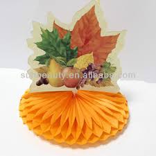 honeycomb table centerpiece crafts thanksgiving decorations ideas