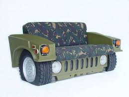 custom car furniture hummer camo couch