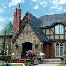 English Tudor by English Tudor Exterior Traditional With Box Window Gray Trellises