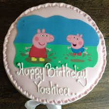 peppa pig cakes peppa pig cake wenzel s the bakers