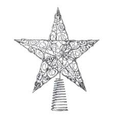simple decoration star topper for christmas tree glitter gold 20cm