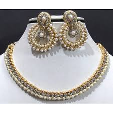 beautiful stone necklace images Buy craftsvilla beautiful elegant pearl stone necklace set online JPG