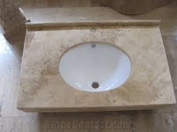 Bathroom Vanity Top Honed Travertine Bathroom Vanity Top Forest Beige Travertine