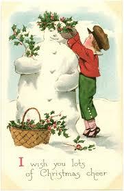 434 vintage snowman cards images vintage