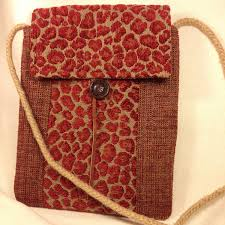 small red cross body bag red chenille cheetah print purse