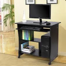 bureau informatique noir bureau table meuble informatique avec tablette clavier bois noir