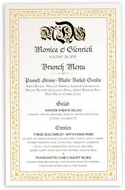 wedding menu cards u0026 dinner party menu cards shop menus for