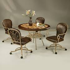 Dining Table And Chairs On Wheels Dining Room Chairs With Casters And Arms Moncler Factory Outlets Com