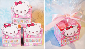 homemade party favors candy boxes kitty homemade party