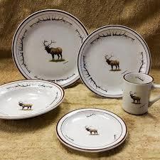 wildlife series elk antler 20 pc dinnerware cabin place