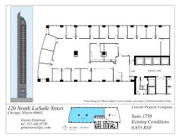 Company Floor Plan by Floor Plans 120 North Lasalle