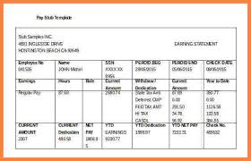 5 free pay stub template excel download securitas paystub