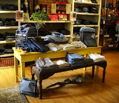 reatil display table ideas rustic wood retail store product
