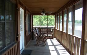cabin porch inside porch lake fausse pointe state park