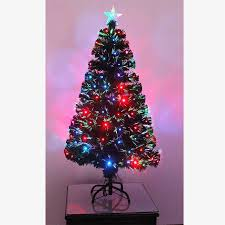 4 Christmas Tree With Lights by Pre Lit Christmas Tree Led Fibre Optic Prelit Light Up Xmas Home