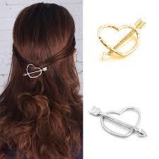 designer hair accessories aliexpress buy 10 pcs metal gold color heart diamante hair