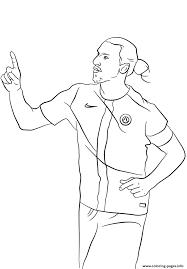 zlatan ibrahimovic soccer coloring pages printable