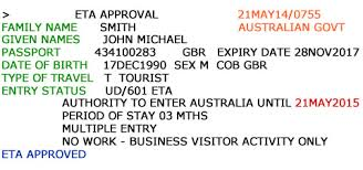 bartender resume sle australia visa eta online booking confirmation e mail for easyeta customers english version
