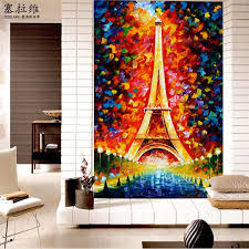 eiffel tower wallpaper oil painting 3d photo wallpaper colorful