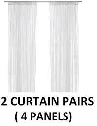 Sheer Curtains Ikea Amazon Com Ikea Lill Sheer Curtains 4 Panels 98 X 110 2 Curtain