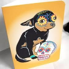 muertos chihuahua greeting card chihuahuas favorite things and