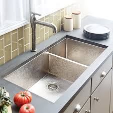 sinks hammered nickel kitchen sink cocina duet pro in brushed
