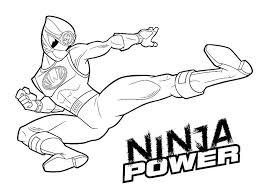 ninja power rangers coloring pages kids printable super